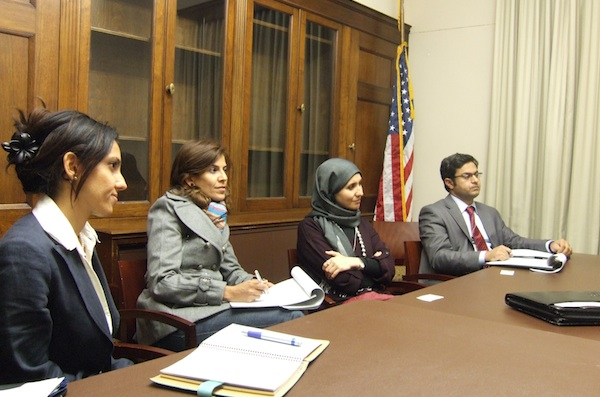 Fellows sit in on a session