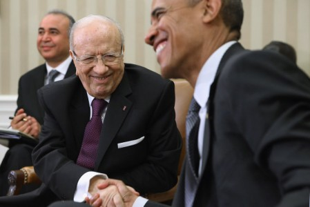 """""""Invest in Tunisia, invest in Democracy"""" President Obama meets with Tunisian President Beji Caid Essebsi"""